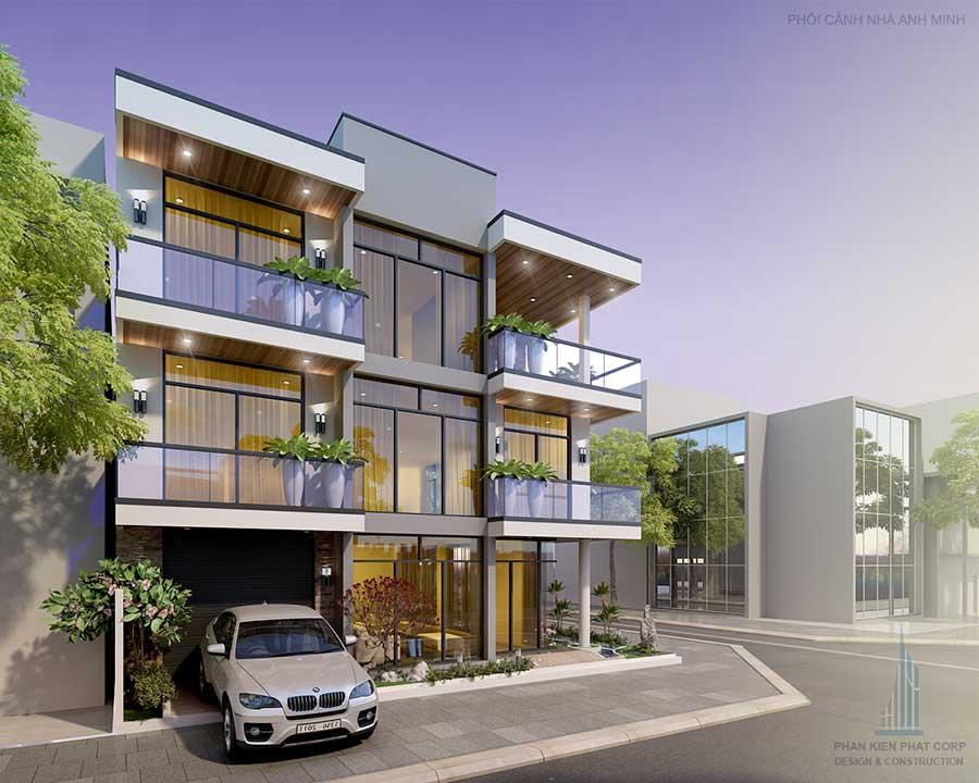 Biệt thự phố 3 tầng hiện đại