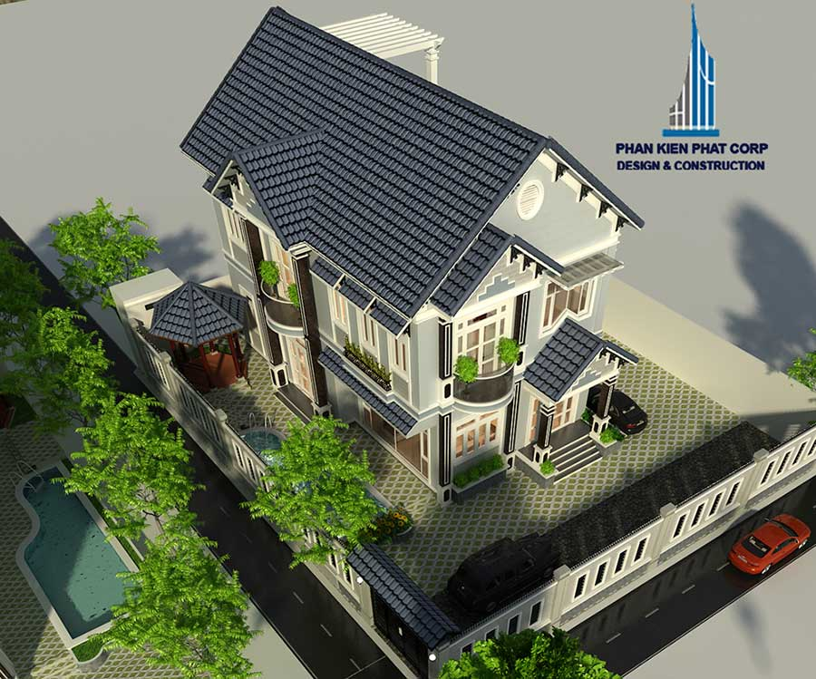 Biệt thự 2 tầng cổ điển 10x15m
