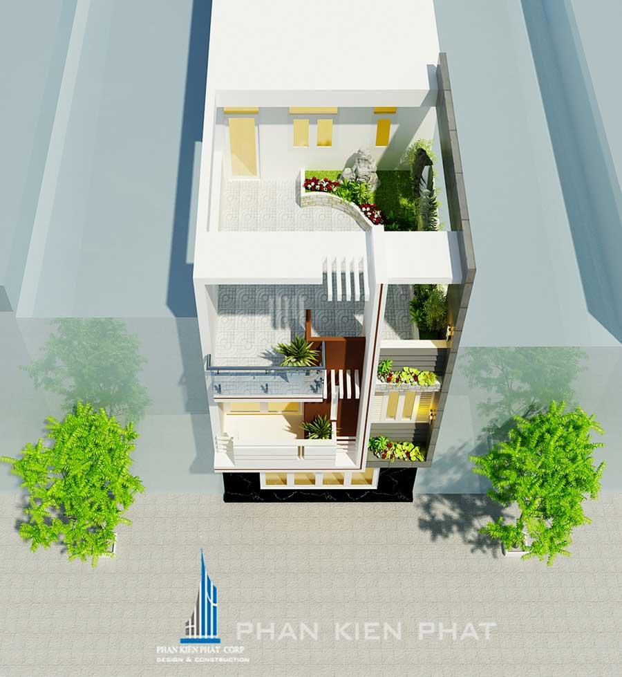 Nhà ở kinh doanh 3 tầng 5x20m
