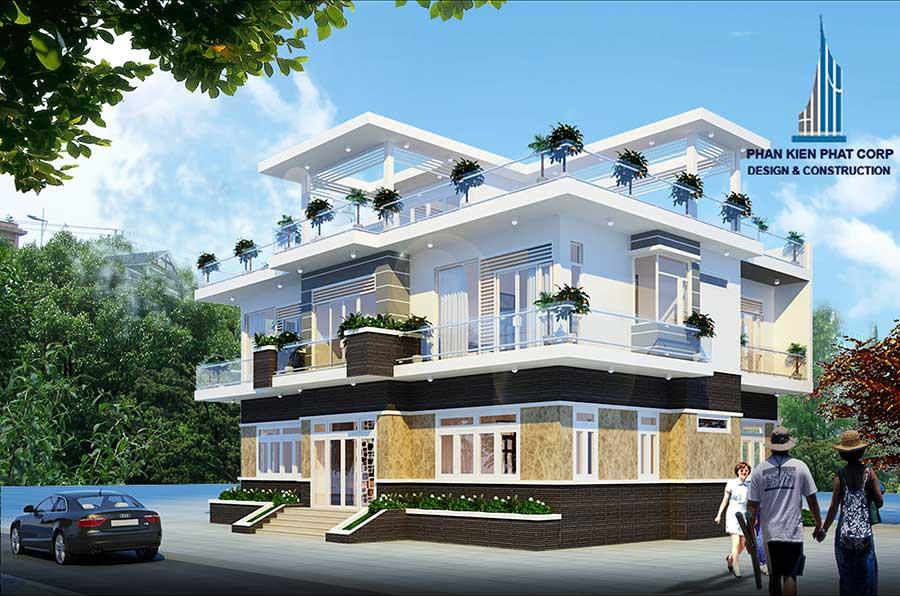 Biệt thự hiện đại 3 tầng - Mặt tiền góc 2
