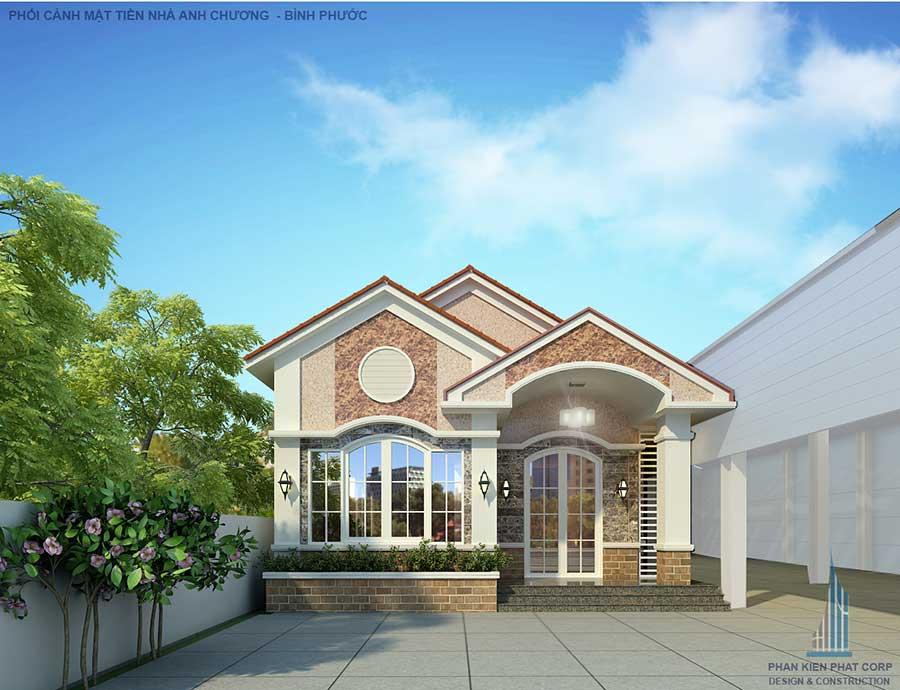 Thiết kế xây dựng nhà cấp 4 sân vườn