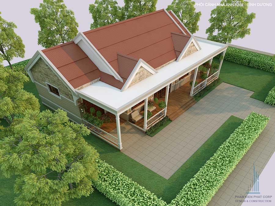 Mẫu thiết kế nhà cấp 4 sân vườn