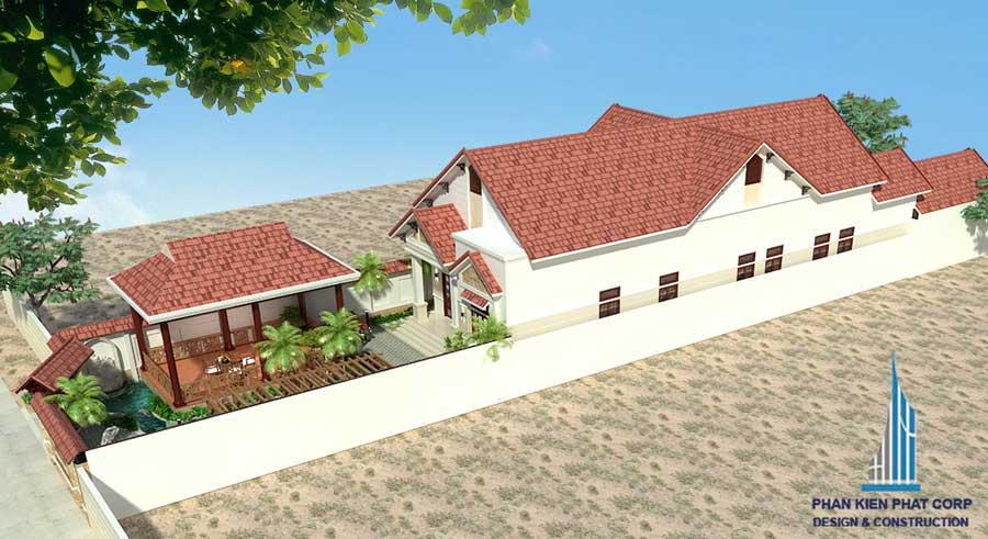 Thiết kế nhà cấp 4 - nhà ở kết hợp kinh doanh