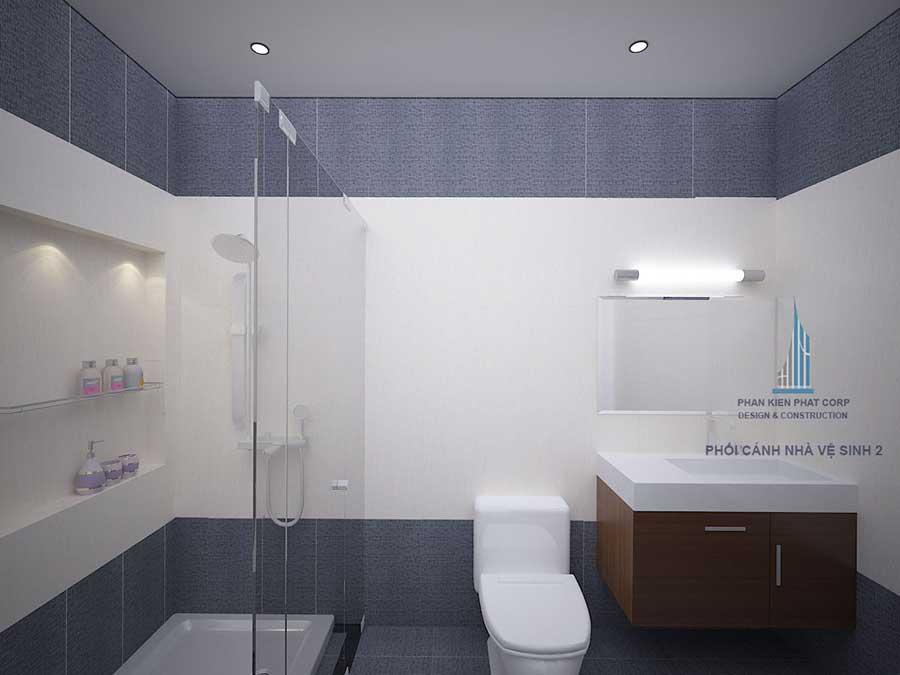 Phối cảnh nhà vệ sinh 1 góc 1