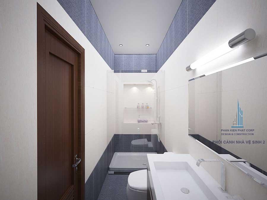 Phối cảnh nhà vệ sinh 1 góc 2