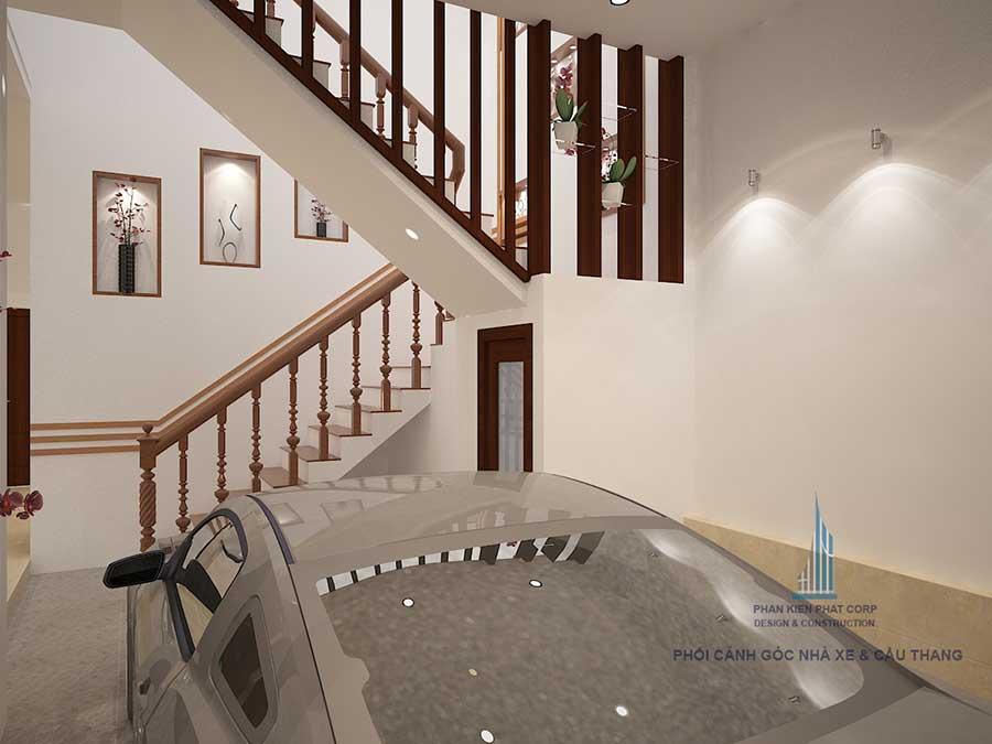 Biệt thự 3 tầng cổ điển - Nhà xe và cầu thang