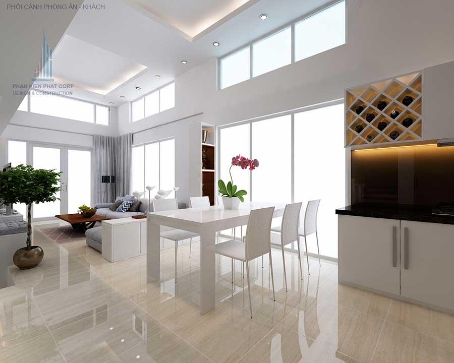 Bàn ăn - nhà phố 8x15m 4 tầng