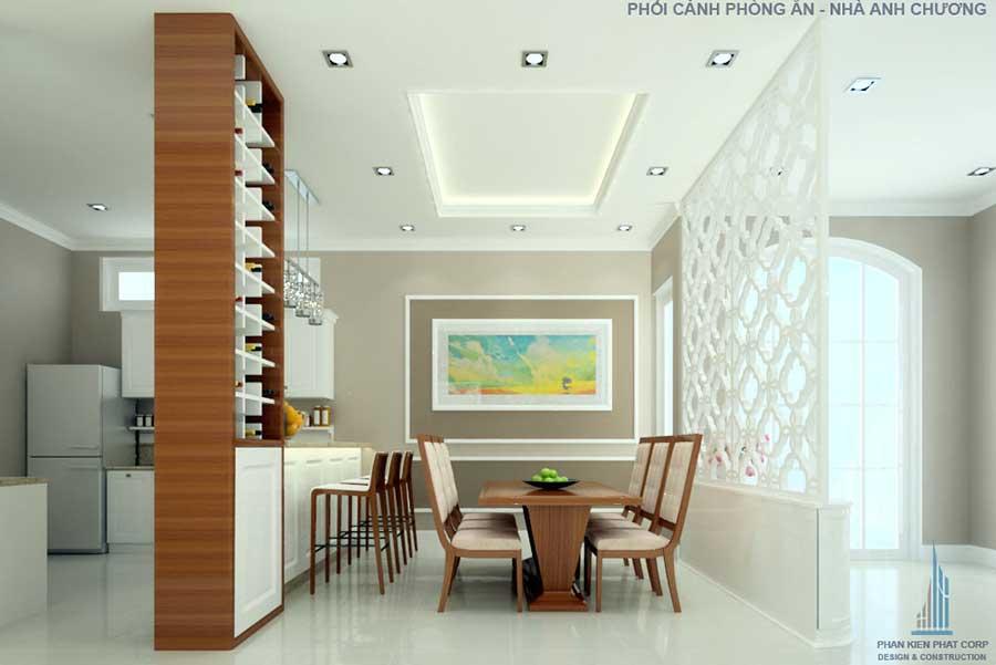 Phòng bếp của nhà cấp 4 cổ điển 10x15m