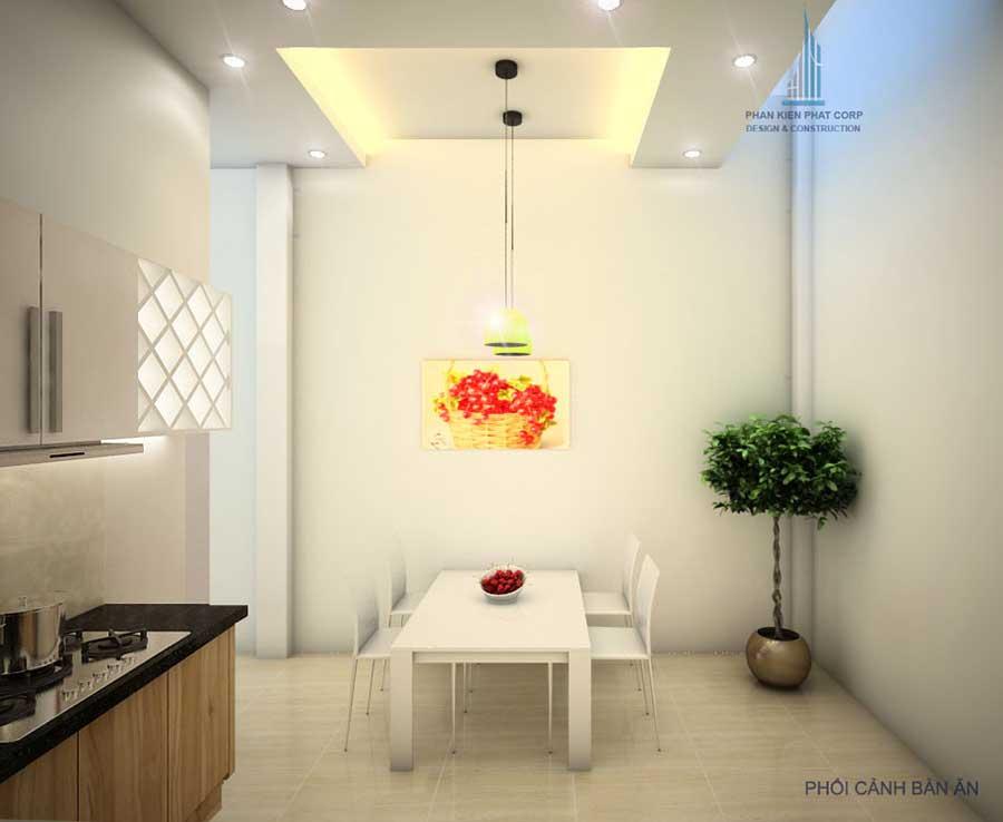 Thiết kế nhà 4x15m - Phòng ăn