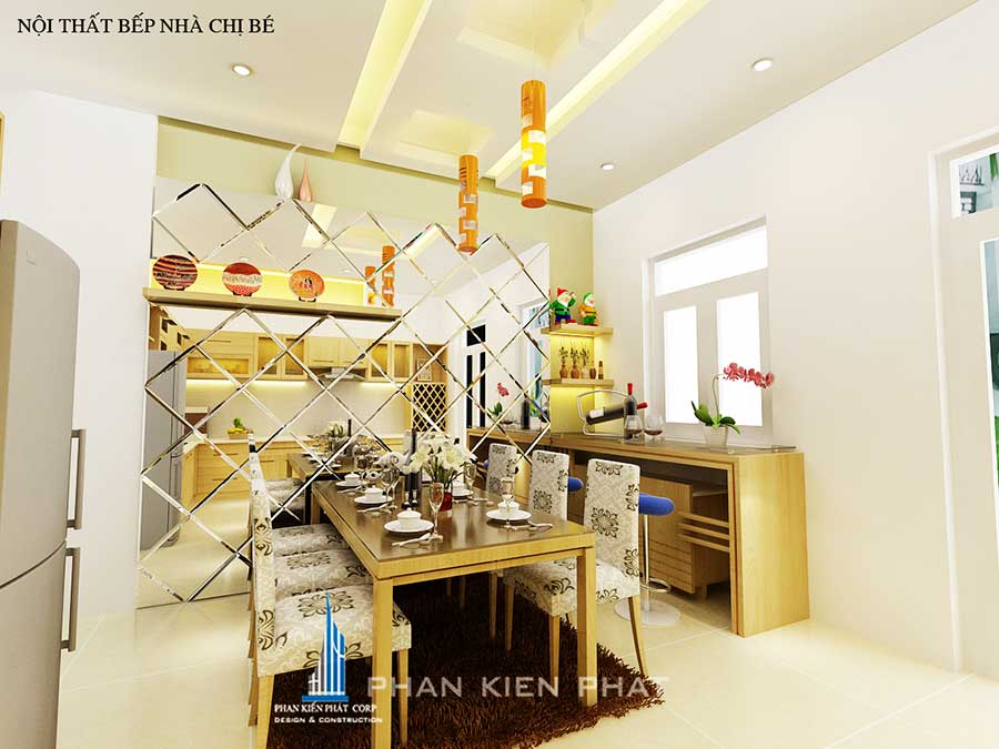 Phòng bếp - phong thủy nhà ở 3 tầng