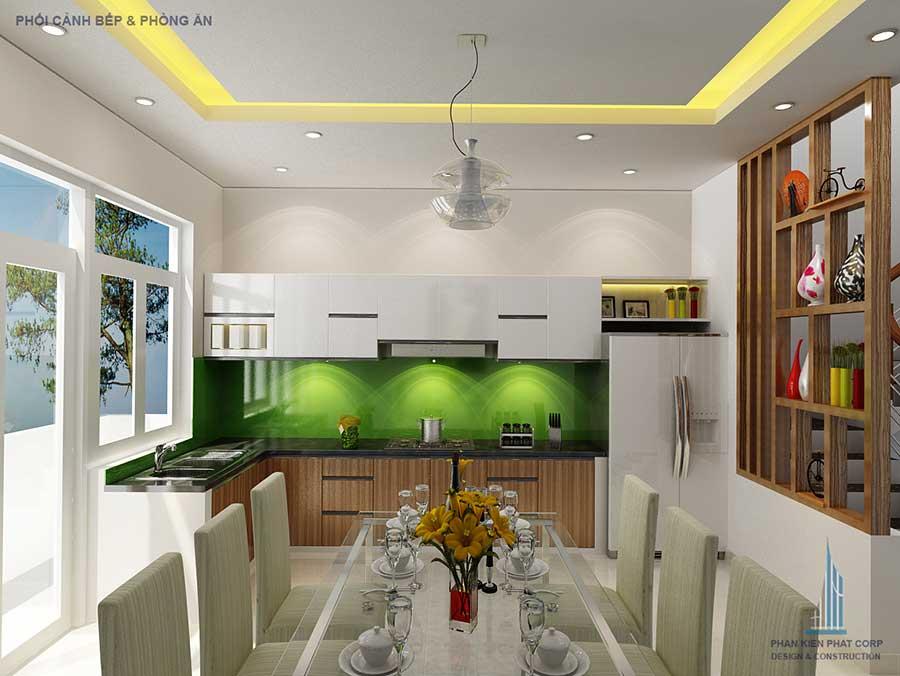 Phòng bếp - xây nhà phố 5x15m 4 tầng