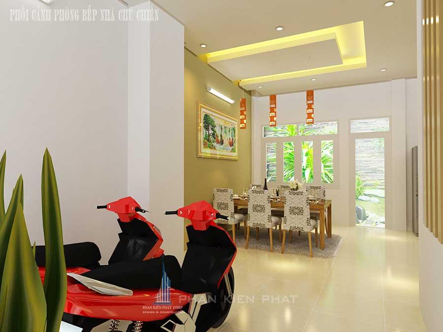 Thiết kế nhà 3 tầng - Phòng ăn góc 1