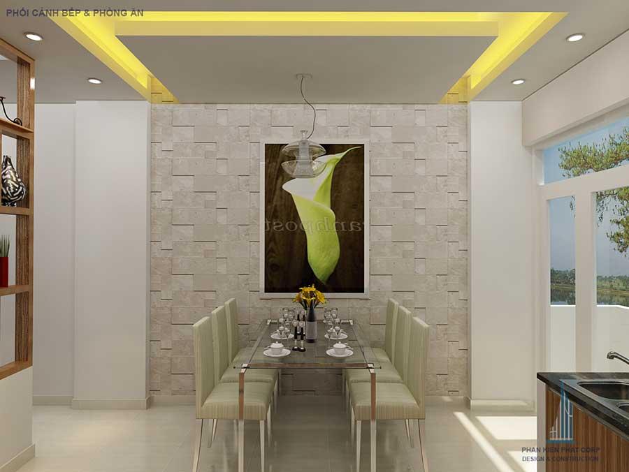 Phòng ăn góc 2 của nhà phố 4 tầng