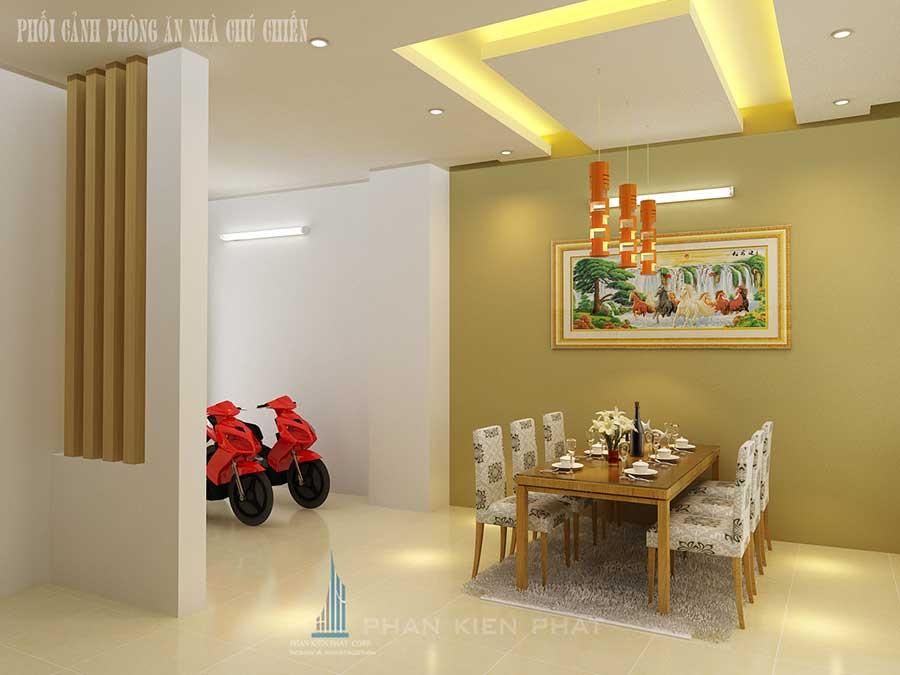 Thiết kế nhà 3 tầng - Phòng ăn góc 2