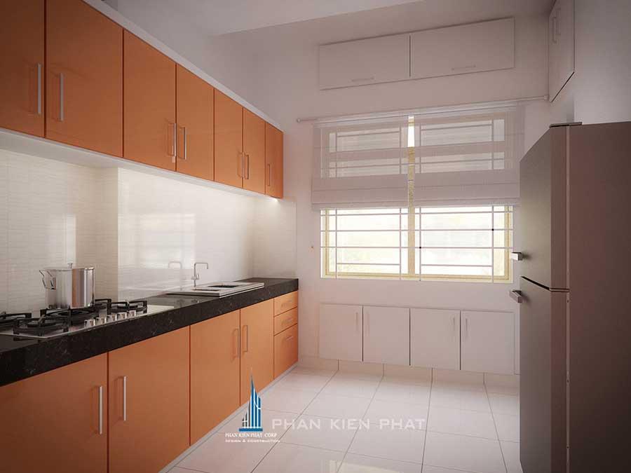 Thiết kế nội thất nhà chung cư - Phòng bếp