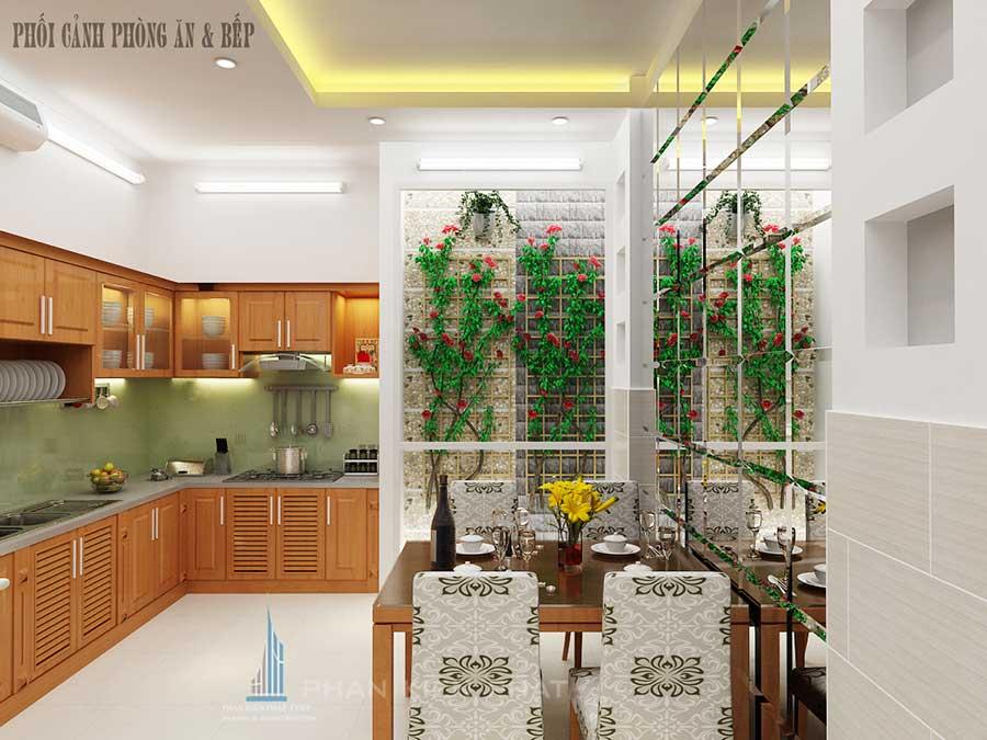 Phòng bếp - xây nhà phố 4x20m 4 tầng