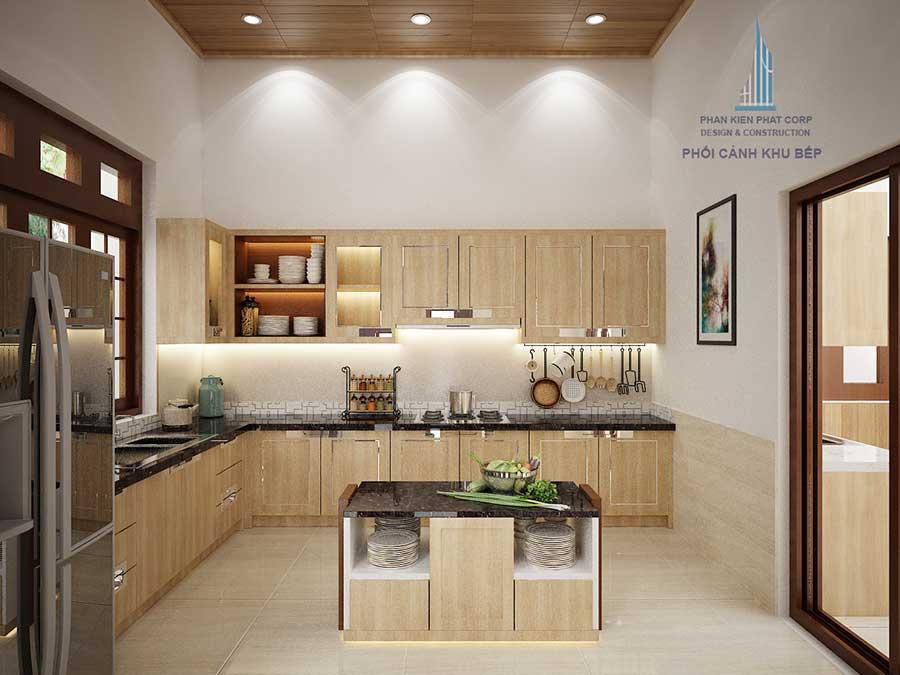 Phối cảnh phòng bếp góc 1
