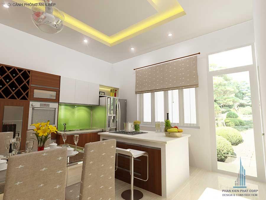 Thiết kế biệt thự 2 tầng - Phòng bếp góc 1