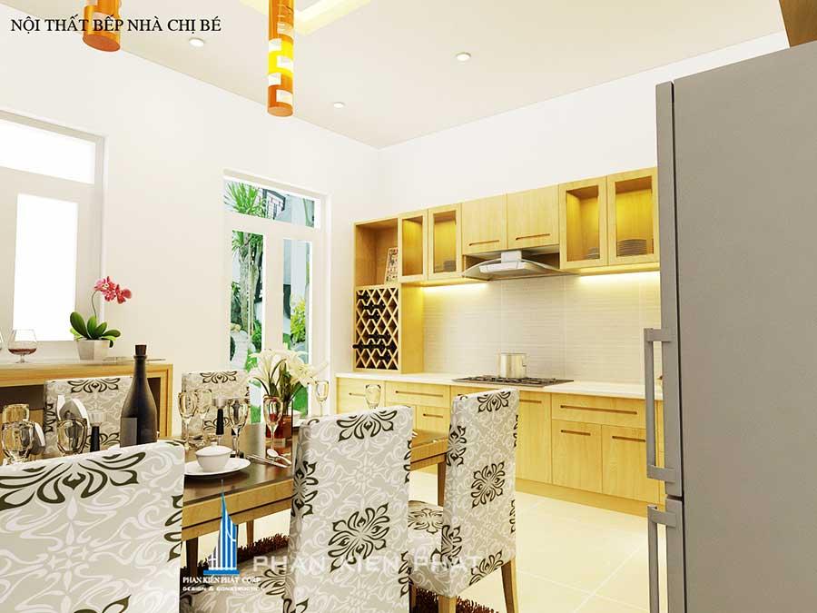 Phòng bếp - mẫu nhà ở kinh doanh 3 tầng