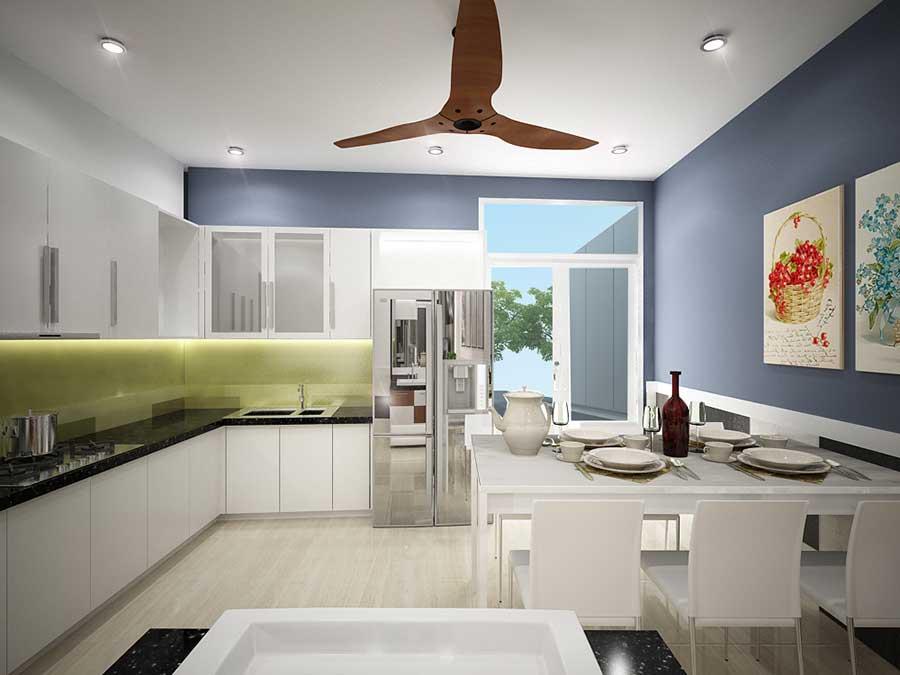 Phòng bếp - nhà 5 tầng mặt phố 5x15m