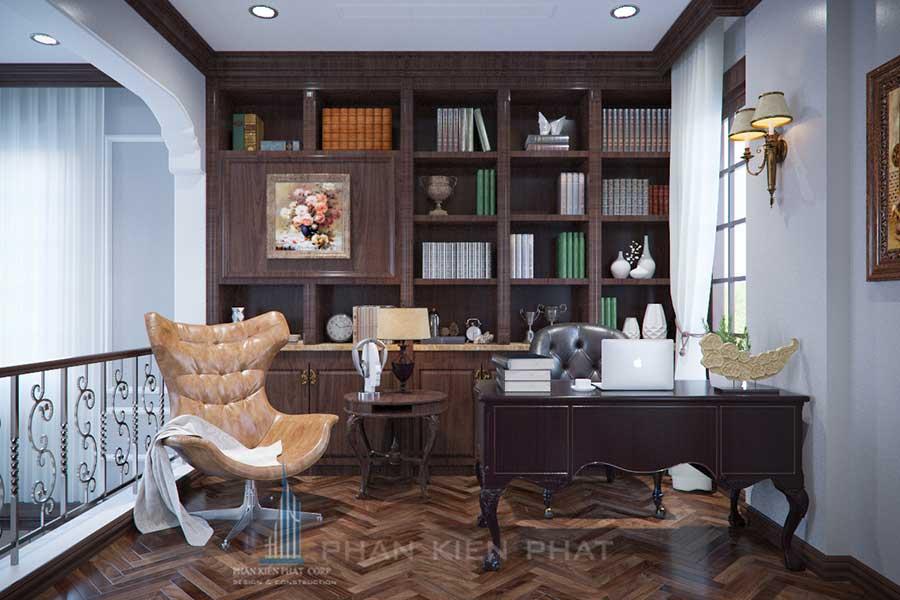 Phòng đọc sách góc 1 - công ty xây dựng nhà chất lượng