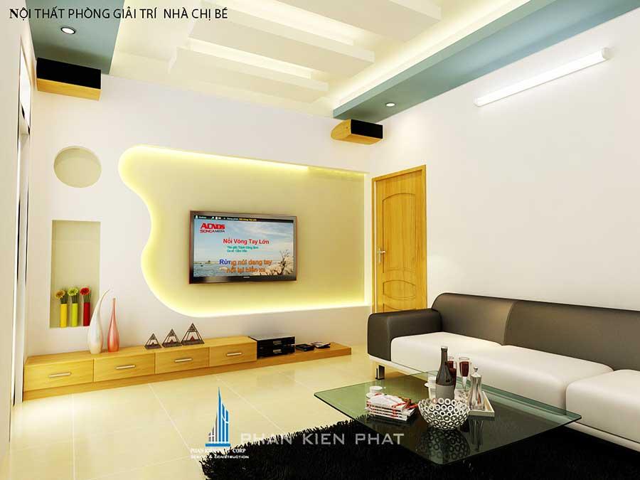 Phòng giải trí - nhà phố 5x20m 3 tầng