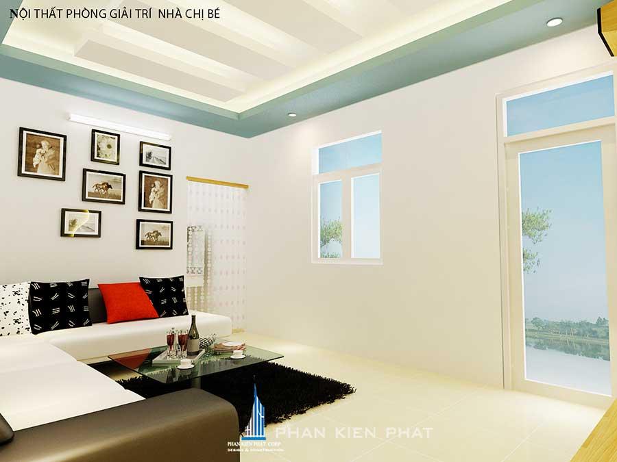 Thiết kế nhà 3 tầng - Phòng giải trí góc 2