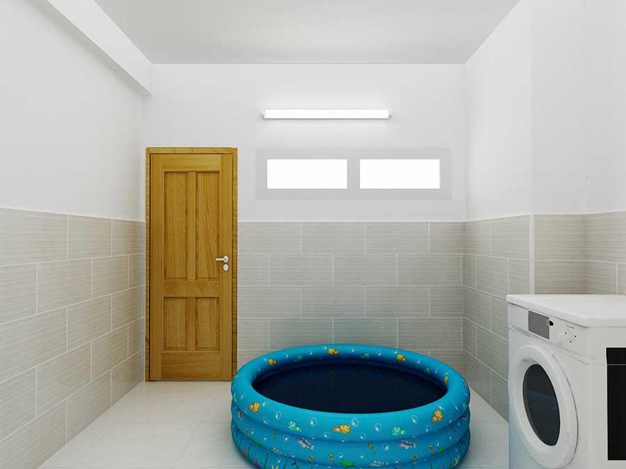 Nhà 4 tầng - Phòng giặt