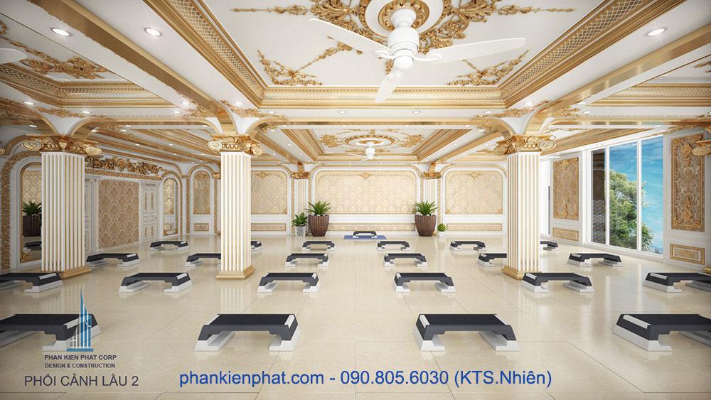 Phòng tập GYM của nhà ở kết hợp kinh doanh 13x20m