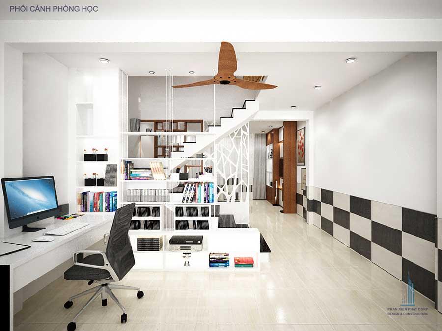 Phòng học - nhà hiện đại 5 tầng