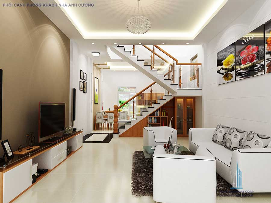 Nhà 2 tầng cho gia chủ mệnh Mộc