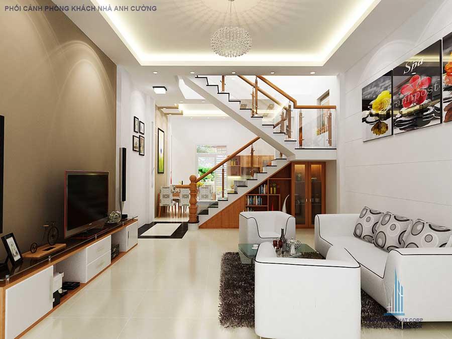 Nhà 2 tầng đơn giản - Phòng khách