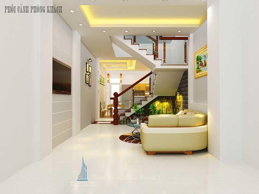 Nhà 5 tầng bán cổ điển - Phòng khách