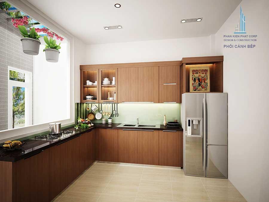 Phòng bếp - nhà 4x18m 3 tầng