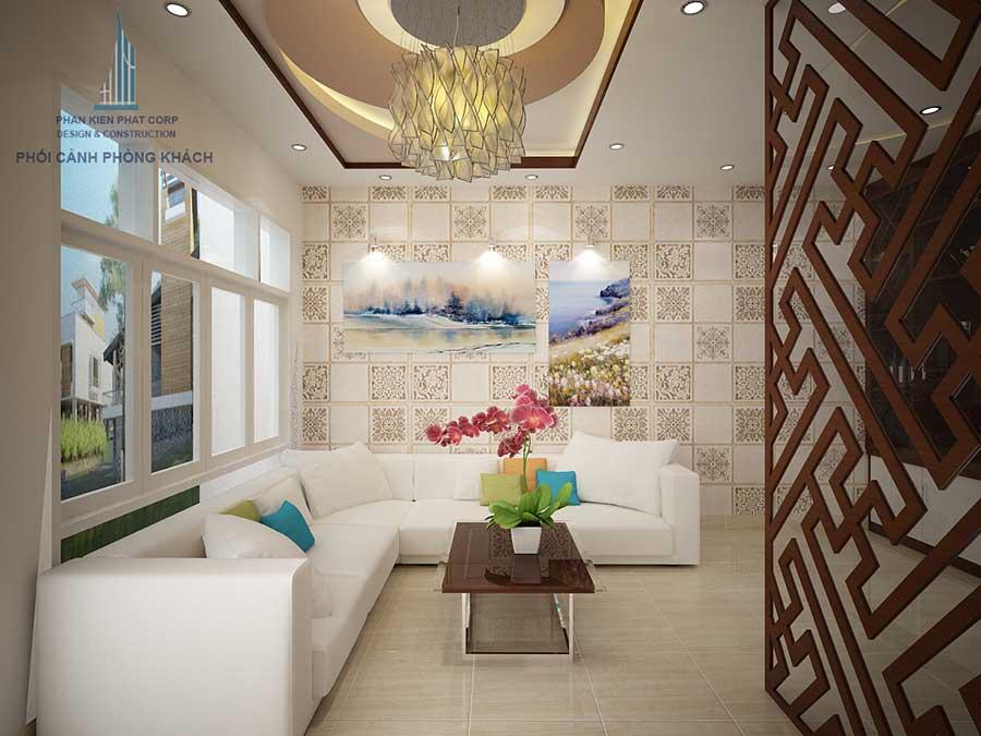 Phòng khách góc 1 - thiết kế nhà phố