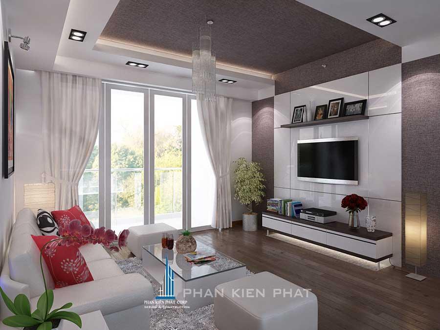 Thiết kế nội thất - Phòng khách góc 1