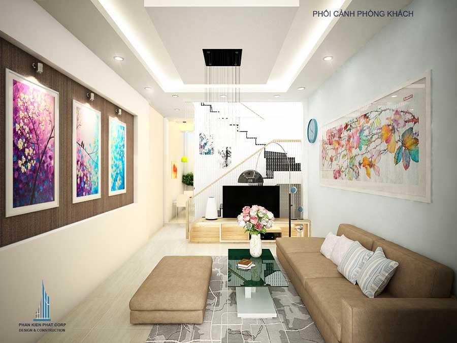 Thiết kế nhà phố - Phòng khách góc 1
