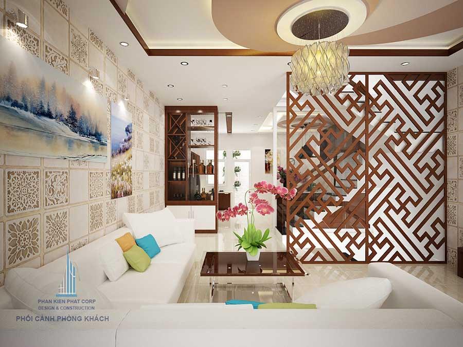 Phòng khách góc 2 - thiết kế nhà phố