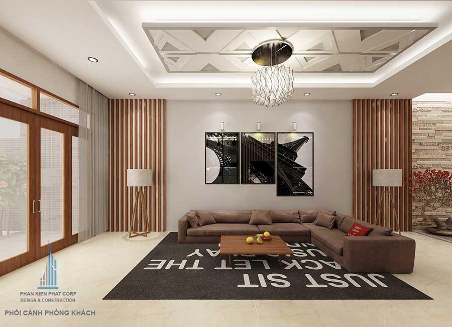 Thiết kế biệt thự hiện đại - Phòng khách góc 2