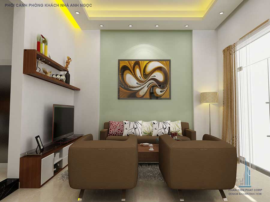 Phòng khách - biệt thự 3 tầng bán cố điển