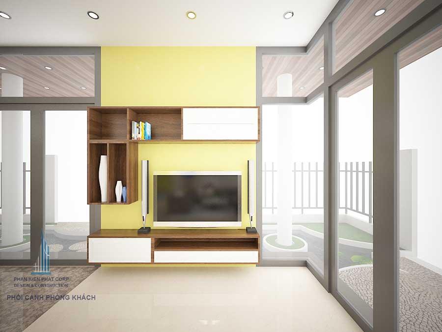 Thiết kế biệt thự 3 tầng - Phòng khách góc 2