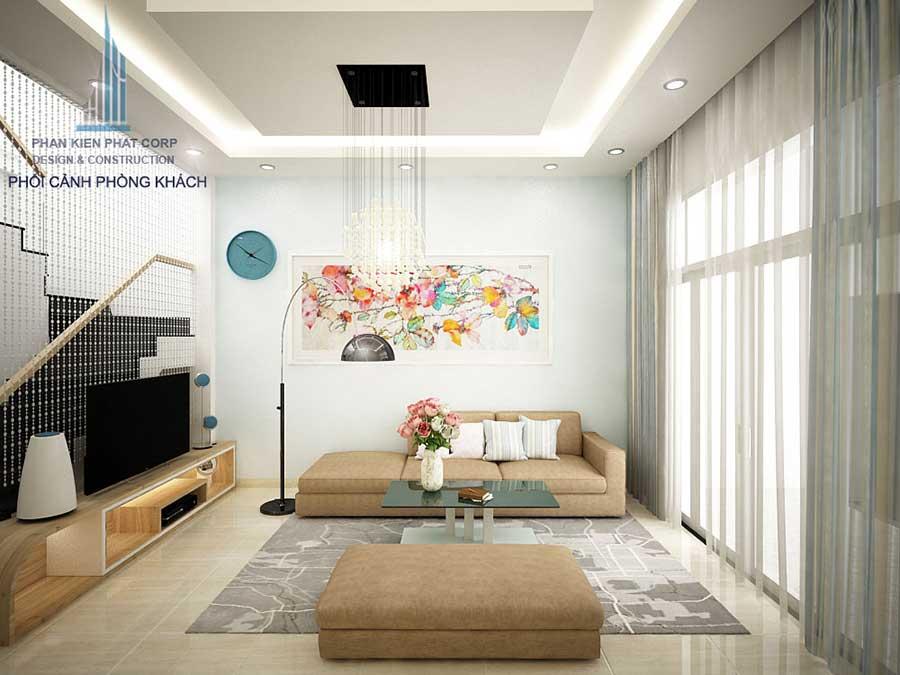 Thiết kế nhà phố - Phòng khách góc 2