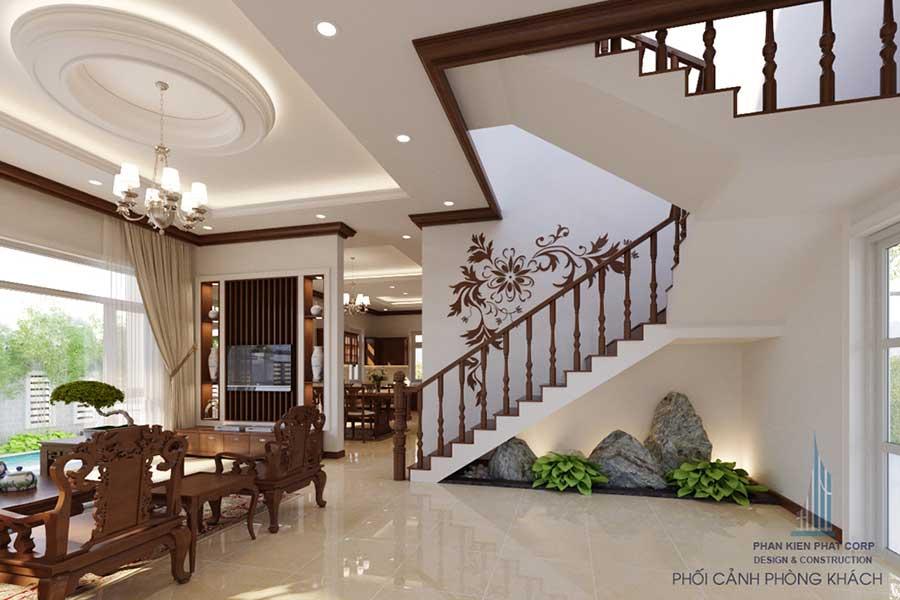 Thiết kế bán cổ điển - Phòng khách góc 2