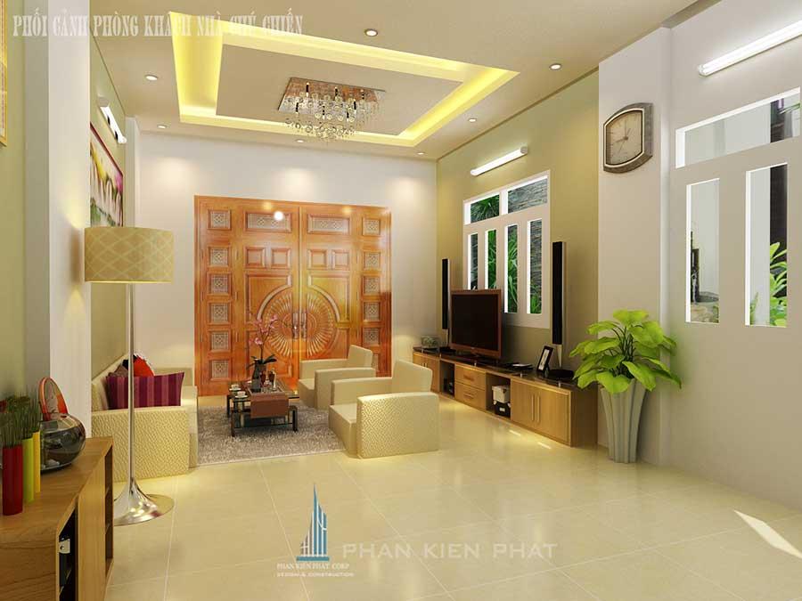 Nhà 3 tầng mái Thái - Phòng khách góc 3