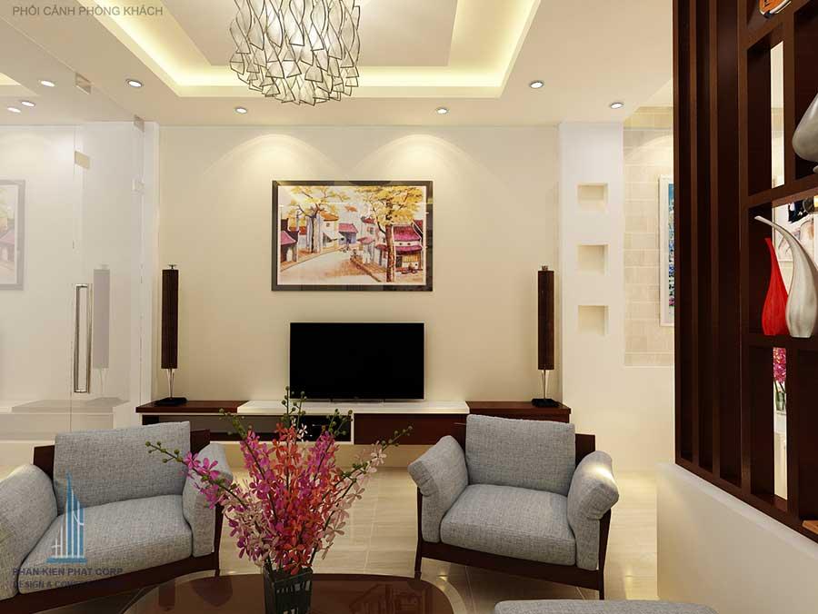 Thiết kế nhà phố - Phòng khách góc 3