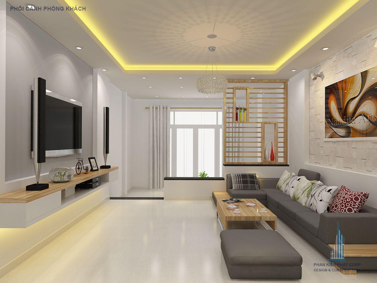 Phòng khách nhà phố