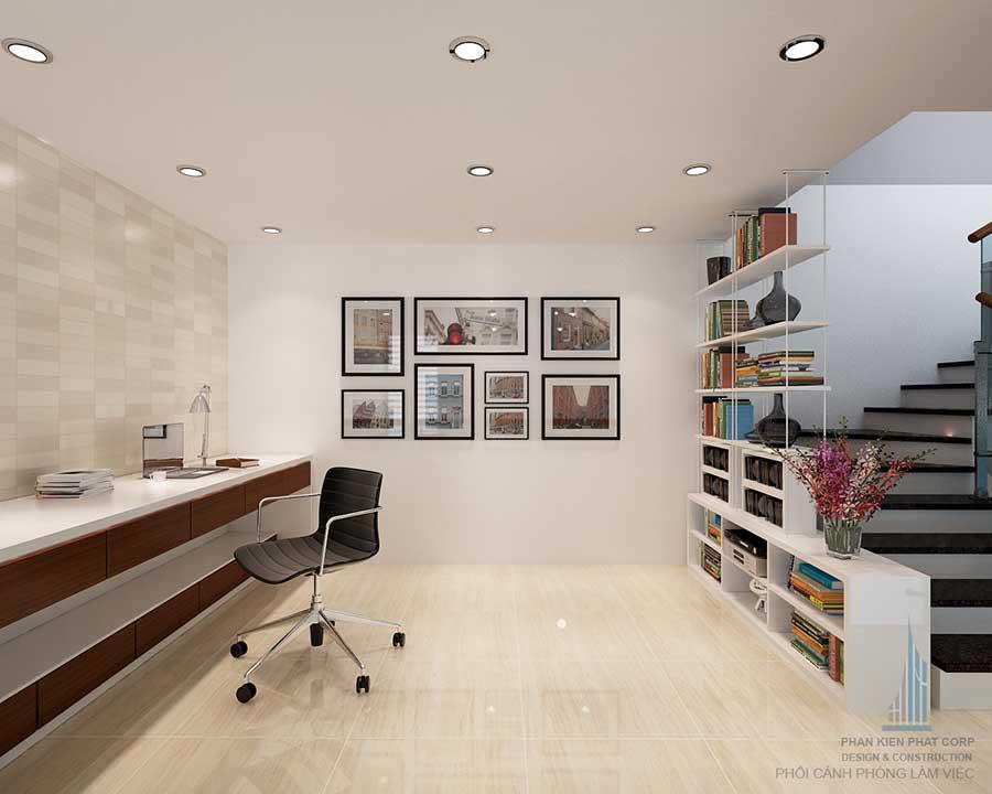 Phòng làm việc - mẫu nhà phố hiện đại 4 tầng