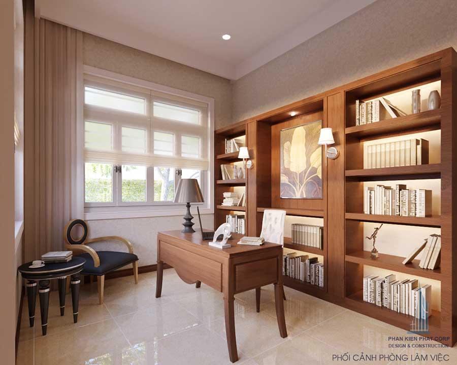Thiết kế biệt thự cổ điển - Phòng làm việc