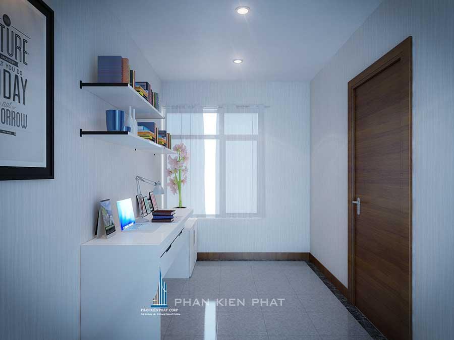 Phòng làm việc view 2 của thiết kế nội thất chung cư