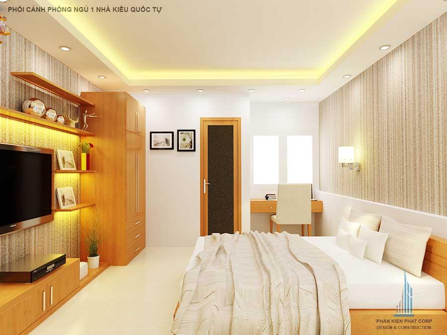 Phòng ngủ - nhà phố 4x15m 2 tầng
